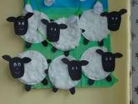 Húsvéti báránykák papírtányérból